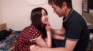 Extraordinary Aika Yumeno has a huge smile on her face after a good sex
