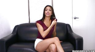 Lustful Veronica Rodriguez is eager to gag on a long meat rocket