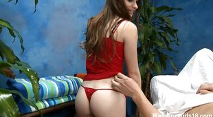 Charming young Alice March is eager to give some head