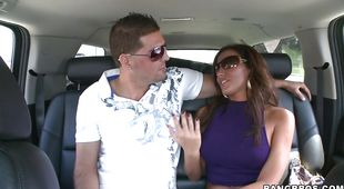 Astounding latina Adriana Deville with huge tits is eager to suck hard phallus