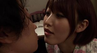 Sensual busty lady Asahi Mizuno is cheating on her husband with his best mate every once in a while
