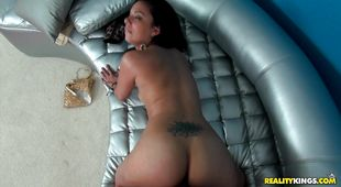 Playful hottie Coco Valentina gets her tasty fanny eaten