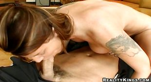 Skilled chick Kayla Quinn can't wait to get some phallus in her love tunnel