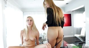 Aphrodisiac Cadence Lux enjoys riding a pulsating and hot sausage