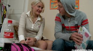 Kinky blonde gal Karoll fucked well