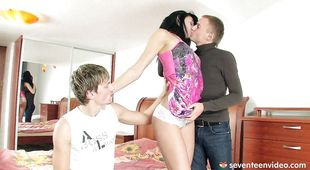 Wanton Carmen D gets her skinny poontang smashed hard