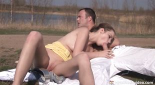 Remarkable young brunette Pascalle B got fucked in her cunny and enjoyed every single second of it